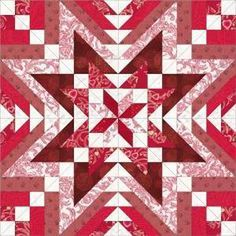 Serendipity Star quilt block by Christine Brown