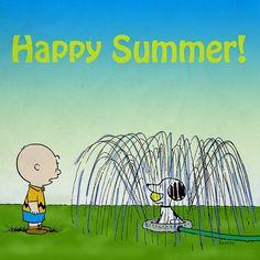 'Happy Summer!' Charlie Brown & Snoopy.