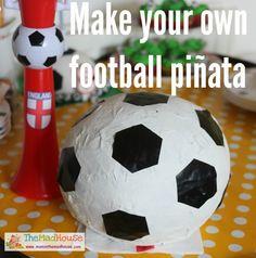Make your own football soccer ball piñata