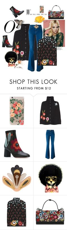 """A Hippie state of mind- last day in office"" by juliabachmann ❤ liked on Polyvore featuring Rifle Paper Co, RED Valentino, STELLA McCARTNEY, Wolf & Moon, Oscar de la Renta and Nina Ricci"