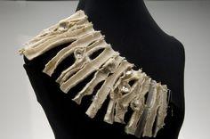 Lyn Cooke Jewellery - Home Fiber Art Jewelry, Thread Jewellery, Jewelry Art, Jewelry Design, Crochet Jewellery, Textile Fiber Art, Textiles, Contemporary Jewellery, Leather Fabric
