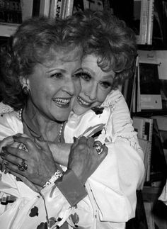 Betty White and Lucille Ball
