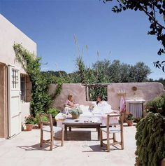 A beautiful house on Formentera | at the style files. Isn't this outside terrace inviting?