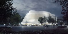 MAD Architects has revealed designs for the new China Philharmonic Hall, a beautiful concert hall with a gently curved translucent facade in Beijing. Cultural Architecture, Architecture Design, Architecture Visualization, Facade Design, Landscape Architecture, Public Architecture, House Design, Architect Logo, Architect House