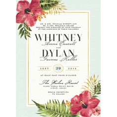 Elegant Paradise Wedding Invitations by Jennie | Elli