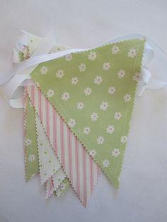 fabric bunting banner   Bunting/Fabric Flag Banner, Girl Bedroom/Playroom/Nursery