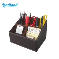 PU Leather Desktop Organizer Box Storage Box Case Pen Holder Sundries Box For Office Supplies A097  sc 1 st  Pinterest & compact disc storage box 20 pieces CD box simple fashion cd storage ...