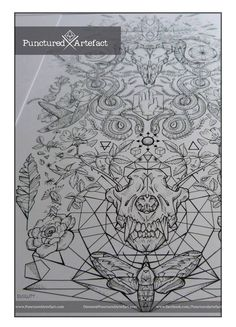 CUSTOM Ink: 'DUALITY' Sleeve design SYMBOLIC INK: This design features a mass of symbolism connected to the duality of life and death. Motifs include; Geometric Mandala, Wolf skull & wild 'dog' rose, snakes swallowing a chaos wheel, ram skull, red hand of Ulster, dice, dandelion seeds, hummingbirds, all seeing eye, flower of life, Inner cosmos (earth, moon, sun) the 4 elements, platonic solids, sacred geometry, feathers, branches & leaves of the world tree.