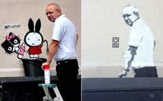Worker sent to remove graffiti finds image of himself on the same wall hours later - Telegraph #DS
