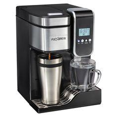 Hamilton Beach FlexBrew Programmable Single-Serve Coffee Maker with Hot Water Dispenser - Black - 49988