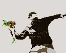 Hey, I found this really awesome Etsy listing at http://www.etsy.com/listing/130898237/banksy-canvas-flower-thrower-anarchy