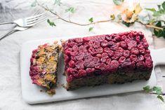 Festive Quinoa Nut Roast with Cranberries - amelia freer Clean Recipes, Veggie Recipes, Snack Recipes, Veggie Meals, Veggie Dishes, Vegetarian Recipes, Healthy Recipes, Spring Recipes, Holiday Recipes
