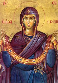 Orthodox Icon Virgin Mary [she is the Golden path of the Sun]