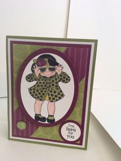 Comfort card using Janie's Girls by Hot Off the Press