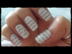 Easy Nail Art Tutorial for Newspaper Nails (Best) Quick & Simple Newspaper Nail Art