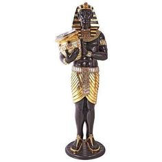 The Design Toscano Guardian Asar - Egyptian Wine Holder Statue is hand-cast in durable resin. This Egyptian statue will make a mesmerizing accent to. Egyptian Furniture, Steampunk Design, Glass Holders, Egyptian Art, Egyptian Goddess, Wine And Beer, Hand Cast, Mediterranean Style, Bars For Home