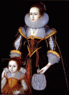 Portrait of Margaret Pheasant and her Mother ~ Paul van Somer