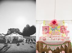 pink and yellow circus party