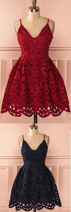 RED LOOKS FABULOUS ON ME. ALOSO IT'S SHORT & FANCY. LACE ALWAYS LOOKS FABULOUS. #♡♡♡☆☆☆