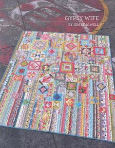 The greater the number of fabrics you use, the more fun your quilt will become! The finished quilt measures 59 inches by 68 inches.