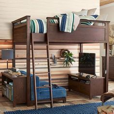 Hampton Convertible Loft Bed. Pottery Barn Teen. Also comes in white.