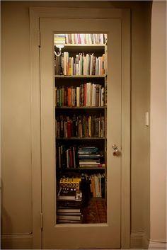 library closet (minus door)
