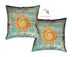 Shell Tiles I Throw Pillow