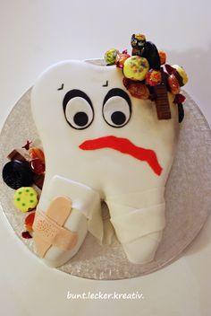 Torte als Zahn für einen Zahnarzt... cake like a tooth for a dentist ...
