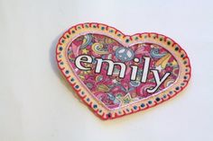 Shabby Chic Flower Heart Patch Personalized by MaineCoonCrafts, $15.00