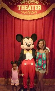 My babies: Mom Taliah and her daughter Kennedi with Mickey
