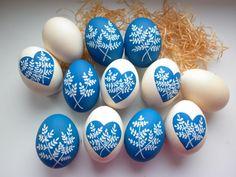 Modré kraslice / od Hand-D | Fler.cz House Plants Decor, Plant Decor, Easter Eggs, Elephant, Spring, Painting, Elsa, Painting Art, Elephants