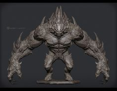 Unreal Engine 3 Game project Giant Monster by 戚震雨