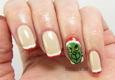 Christmas Grinch Nails mit You're So Vain-illa (OPI, Coca-Cola)