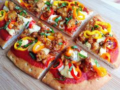 Wholly Vegan: VeganMoFo 11: Sweet and Spicy Maple Tempeh Cashew Cheese Pizza