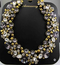Newest Gorgeous Fashion Necklace Jewelry crystal Department Statement Necklace Women Choker Necklaces & Pendants q613-in Choker Necklaces from Jewelry on Aliexpress.com | Alibaba Group