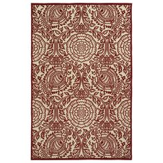 Bring stylish appeal to your living room or patio with this lovely rug, showcasing a bold floral motif.Product: RugCo...