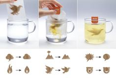 'Stressed' Tea Bags Transform and 'Relax' in Hot Water