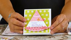 Say Happy Birthday with this Party Hat card by Richard Garay. Check out the full video tutorial on today's blog.
