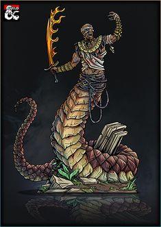 Printable Heroes, Printable Paper, Greek Mythological Creatures, Yuan Ti, Black Comics, Card Templates, Game Art, Comic Art, Jumping Jacks