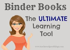 Binder Books the Ultimate Learning Tool / a hybrid of a lapbook and a notebook / How to make / Dollie at Teacher of Good Things