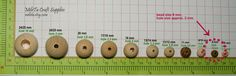 8 mm Wood Beads Natural Round Coffee Stripe Wooden Beads by MileTa
