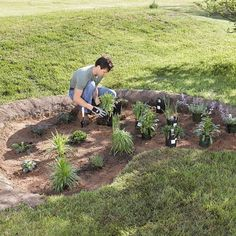 Plant a rain garden in your own yard with these simple-to-follow steps.data-pin-do=