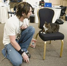 I've met Criss Angel a few times and he's really a nice guy.  Sometimes I think his best friend really is Hammie, his cat.