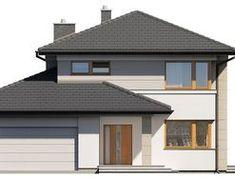 DOM.PL™ - Projekt domu TP Karat 4 CE - DOM TP2-29 - gotowy koszt budowy Duplex Design, Construction, Bungalow, Gazebo, Outdoor Structures, Outdoor Decor, House, Home Decor, Plants