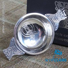 Houston Clan Crest Quaich. Free worldwide shipping available