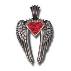 Bico Australia Jewelry (PV7) -Wings of Uriel Pendant, Love Is My Destiny You Are My Fate - Pave Necklace - Bico Pendants