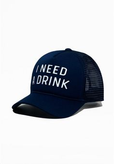 Every monday to friday i wear this hat to work I Need A Drink 8c6d4394765