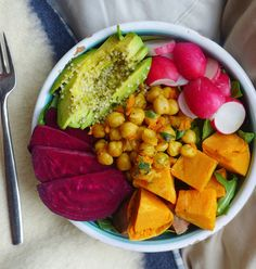 RAINBOW BUDDHA BOWL: Eating the full rainbow of foods regularly helps give your body the nutrients it needs; in addition to macronutrients, fiber, vitamins and minerals, naturally colorful foods contain what are known as phytochemicals (a non-nutritive chemical component of food that is beneficial to overall health).