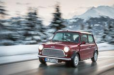 Classic Mini takes to mountain roads like an old pro.