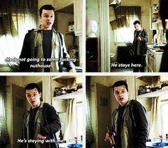 Mickey finally having feelings. <----Well. When you grow up in a neighborhood like that, I can't say that I blame him for not having any.